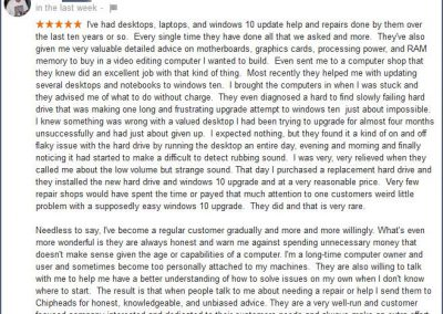 Google review by Frank