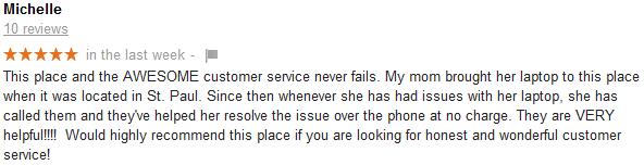 michelle google review